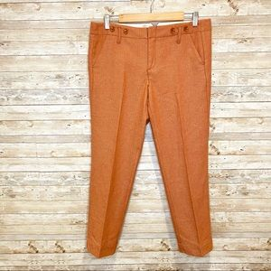 Anthropologie Paper Boy Orange Wool Trouser Pants